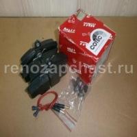 колодки тормозные дисковые, рено logan/sandero, аналог trw